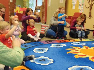 children singing in storytime
