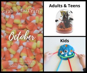 october crafts - snow globe and playdough monster